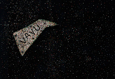 Willem Boshoff | Night Winds: Vãyu | 2009 | Strung Beads on Cloth | 70 x 100 x 3.5 cm
