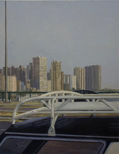 Simon Stone | On a Bridge Over the Nile | 2012 | Oil on Canvas on Board | 100 x 78 cm