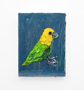 Georgina Gratrix | The Green Parrot | 2018 | Oil on Canvas | 40 x 30 cm
