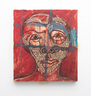 Gareth Nyandoro | Kondemborari - Mask | 2013 | Mixed Media on Canvas | 53 x 47 cm