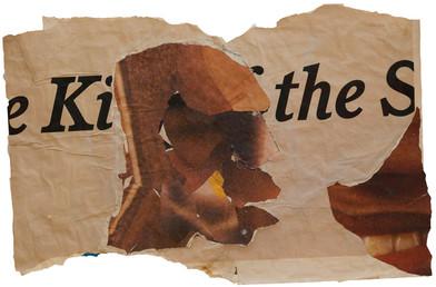 Kay Hassan   Untitled (Kiss)   n.d.   Paper Construction   65 x 102 cm