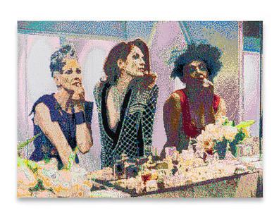 Frances Goodman | Dreamers | 2020 | Hand-Stitched Sequins on Canvas | 119 x 164 x 5 cm