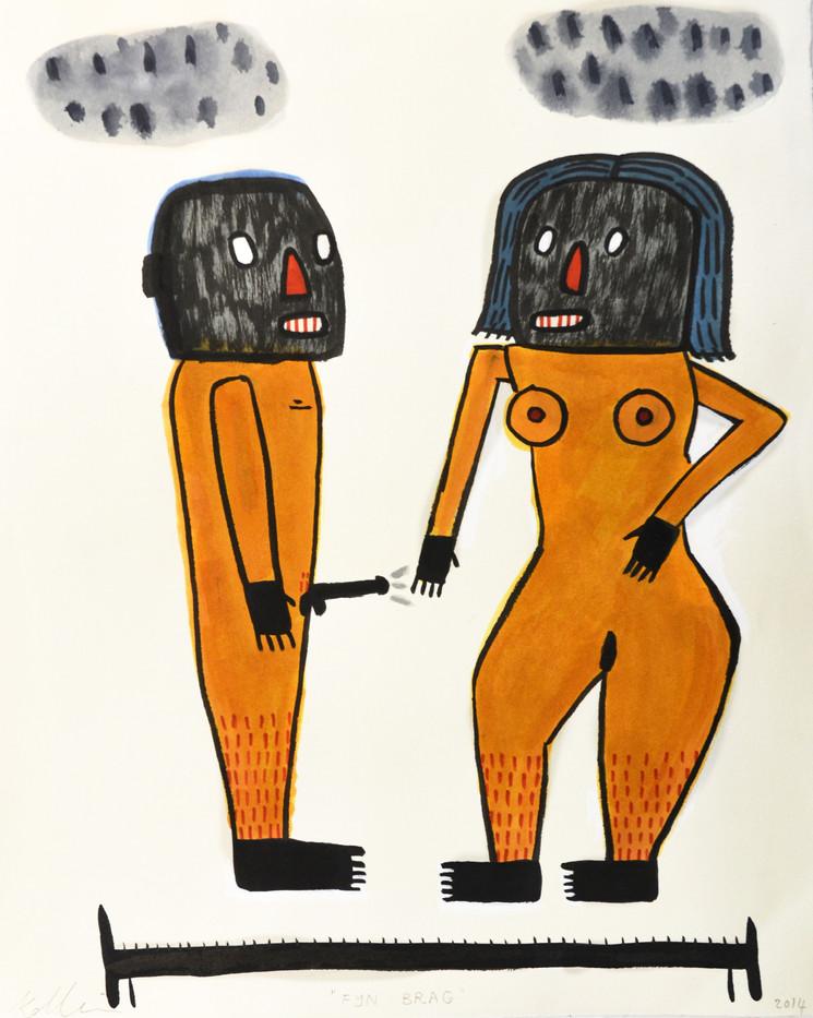 Karlien De Villiers | Fyn Brag | 2014 | Ink and Watercolour on Paper | 38 x 31 cm