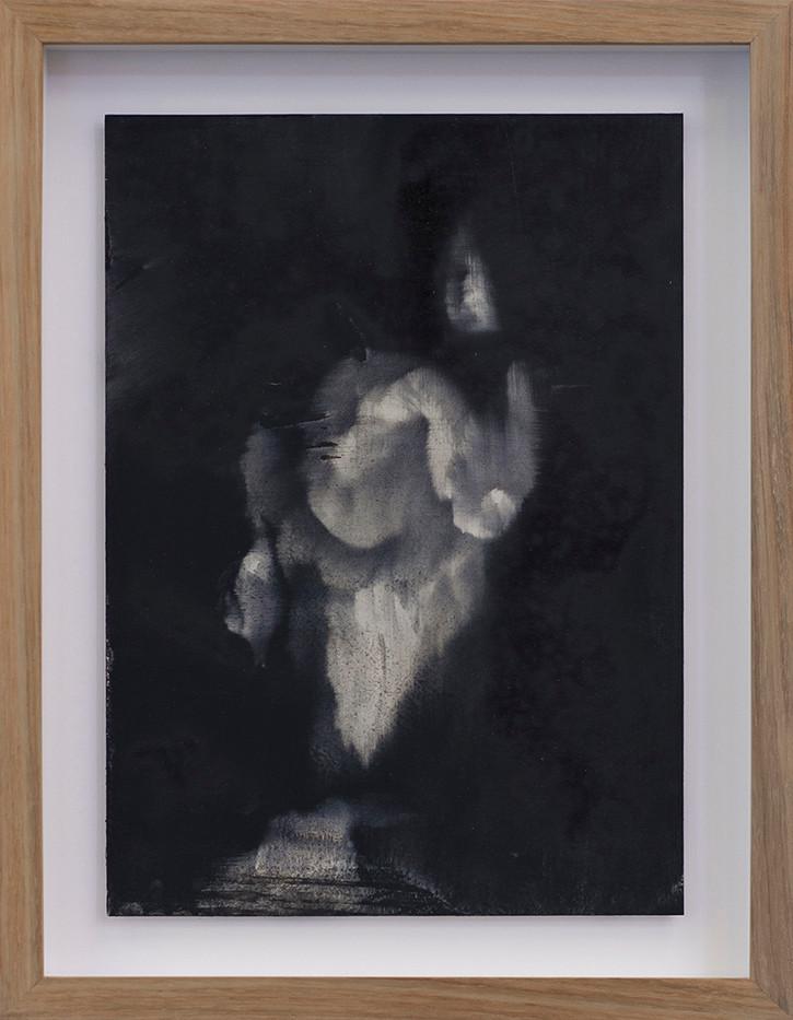 Alexandra Karakashian | Undying (Study) II | 2017 | Oil on Sized Paper | 31.5 x 22.5 cm