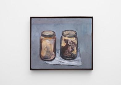 Johann Louw | Klein Stillewe met Fetusse | 2017 | Oil on Panel | 51 x 61 cm