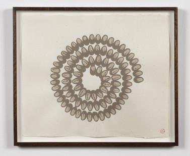 Richard Long | Untitled | 1992 | River Avon Mud on Paper | 40 x 48 cm