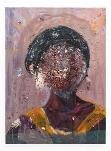 Mostaff Muchuwaya   Untitled   2018   Acrylic on Canvas   100 x 73.5 cm