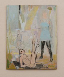 Simon Stone   Fun   2016   Oil on Cardboard   33 x 26 cm
