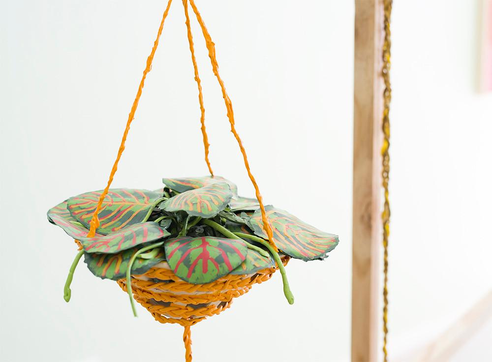 Gabrielle Kruger | Hanging Garden | 2018 | Ceramic & Mixed Media | 82 x 30 x 34 cm
