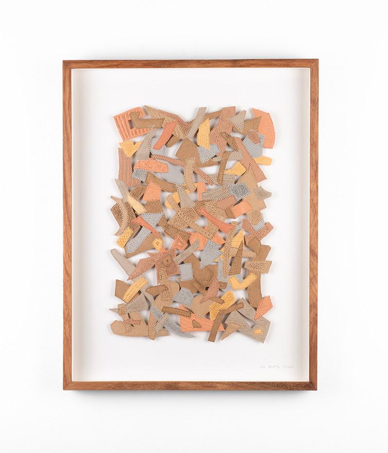 Jo Roets   Transiçã 1   2020   Air-Drying Clay   46.5 x 35 x 3.5 cm