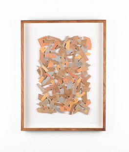 Jo Roets | Transiçã 1 | 2020 | Air-Drying Clay | 46.5 x 35 x 3.5 cm