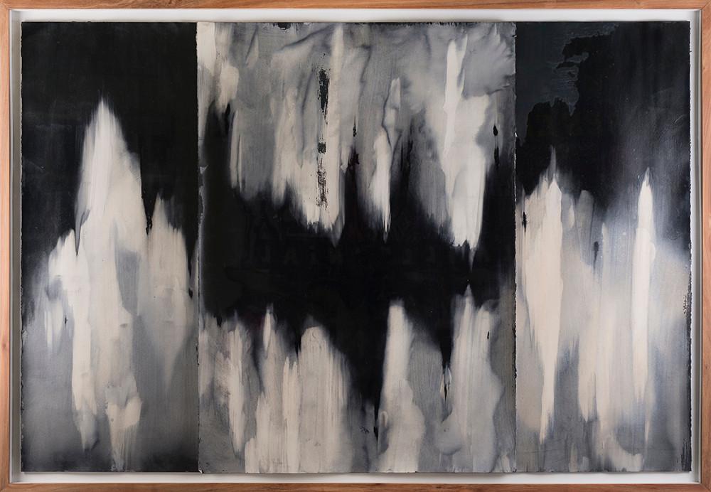 Alexandra Karakashian | Achromatic (beneath) I | 2017 | Oil on Sized Paper | 70 x 100 cm Each