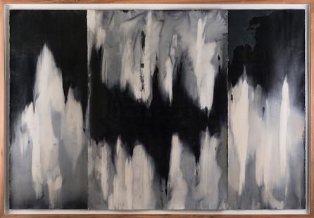 Alexandra Karakashian   Achromatic (beneath) I   2017   Oil on Sized Paper   70 x 100 cm Each