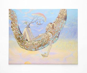 Marlene Steyn   i so lay chins   2020   Acrylic on Canvas Board   40.5 x 51 cm