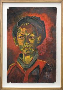 Albert Adams | Portrait | 1950 | Oil on Paper | 51 x 33.3 cm