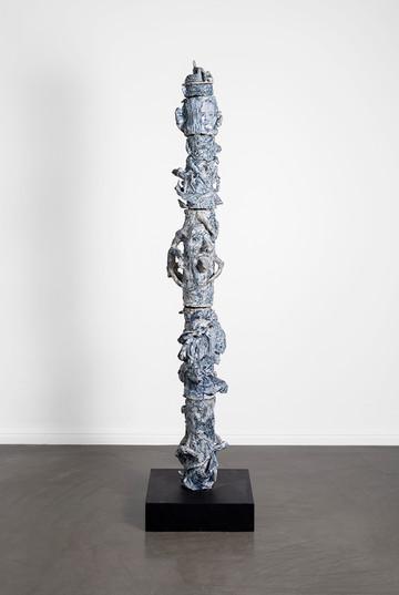 Marlene Steyn, Abraham Kritzman & Angels Miralda Tena | Vertigo where to go (Leo) | 2018 | Painted Ceramic | 170 x 22 x 20 cm