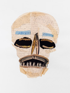 Kate Gottgens   Vanitas III (Skull with a pious smile)   2020   Collage on Paper   76 x 56 cm