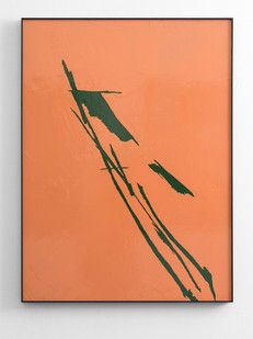 Peter Eastman | Small Shadow I | 2016 | Enamel on Aluminium | 98 x 73 cm