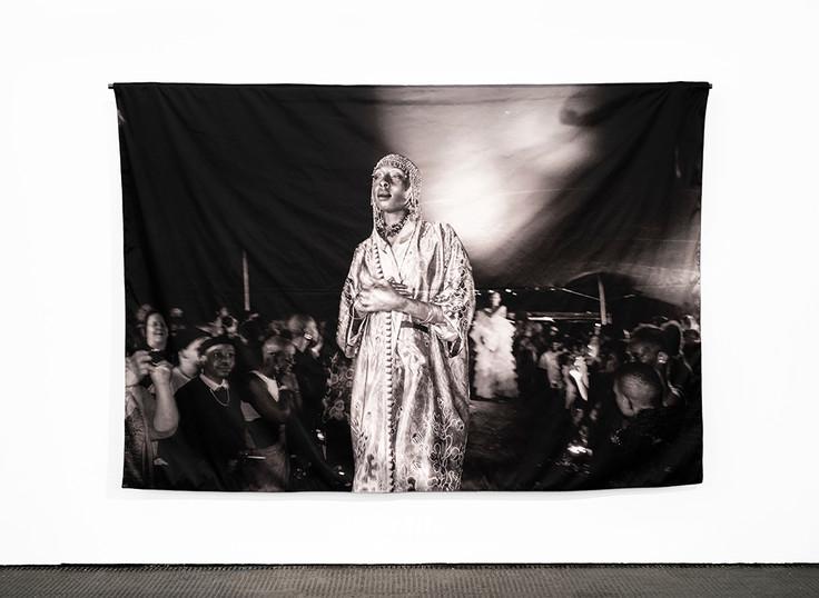 Musa N. Nxumalo | Vogue Nights Jozi V | 2019 | Archival Pigment Print on Polyknit | 200 x 300 cm