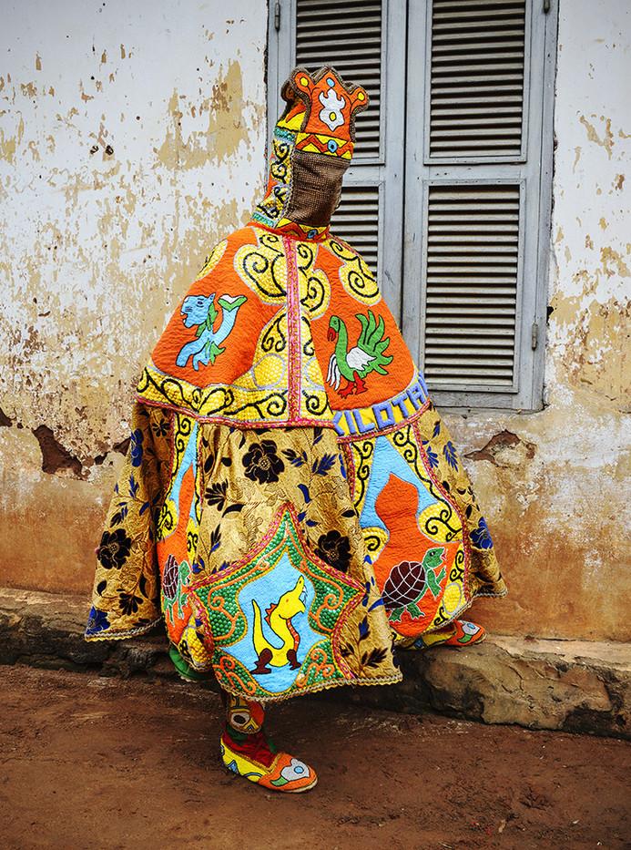 Leonce Raphael Agbodjélou | Egoungoun - Adé I | 2017 | Giclée Print on Epson Natural Hot Press Paper, Diasec | 150 x 110 cm | Edition of 10 + 2 AP
