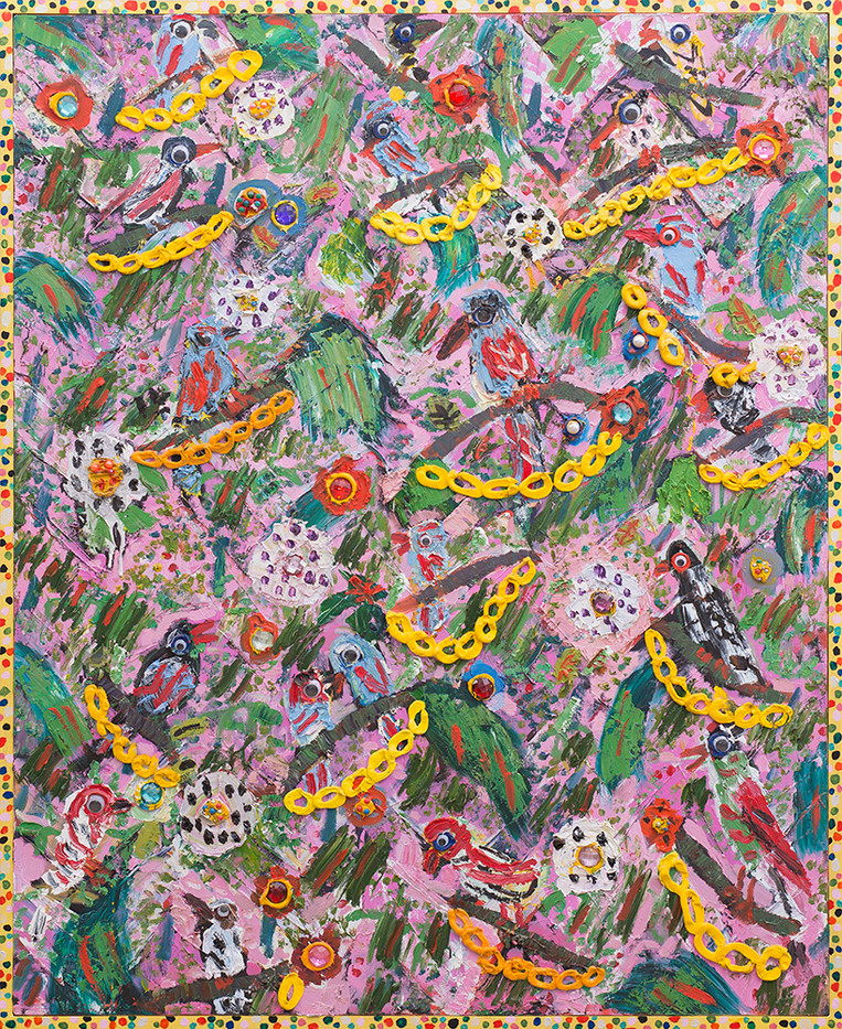 Georgina Gratrix | Nature Bling | 2017 | Oil on Canvas | 165 x 135 cm