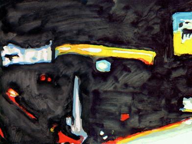 Albert Samson   Padova   2017   Enamel on Canvas   30 x 40 cm
