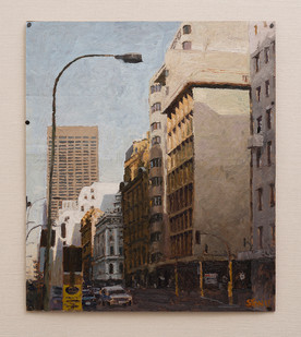Simon Stone   Commissioner Street   2016   Oil on Cardboard   37 x 32 cm