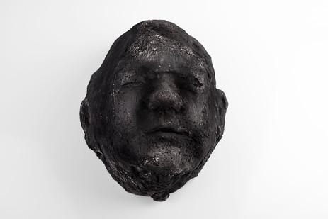 Johann Louw | Infant | 2017 | Cement and Charcoal | 29 x 24 x 15 cm