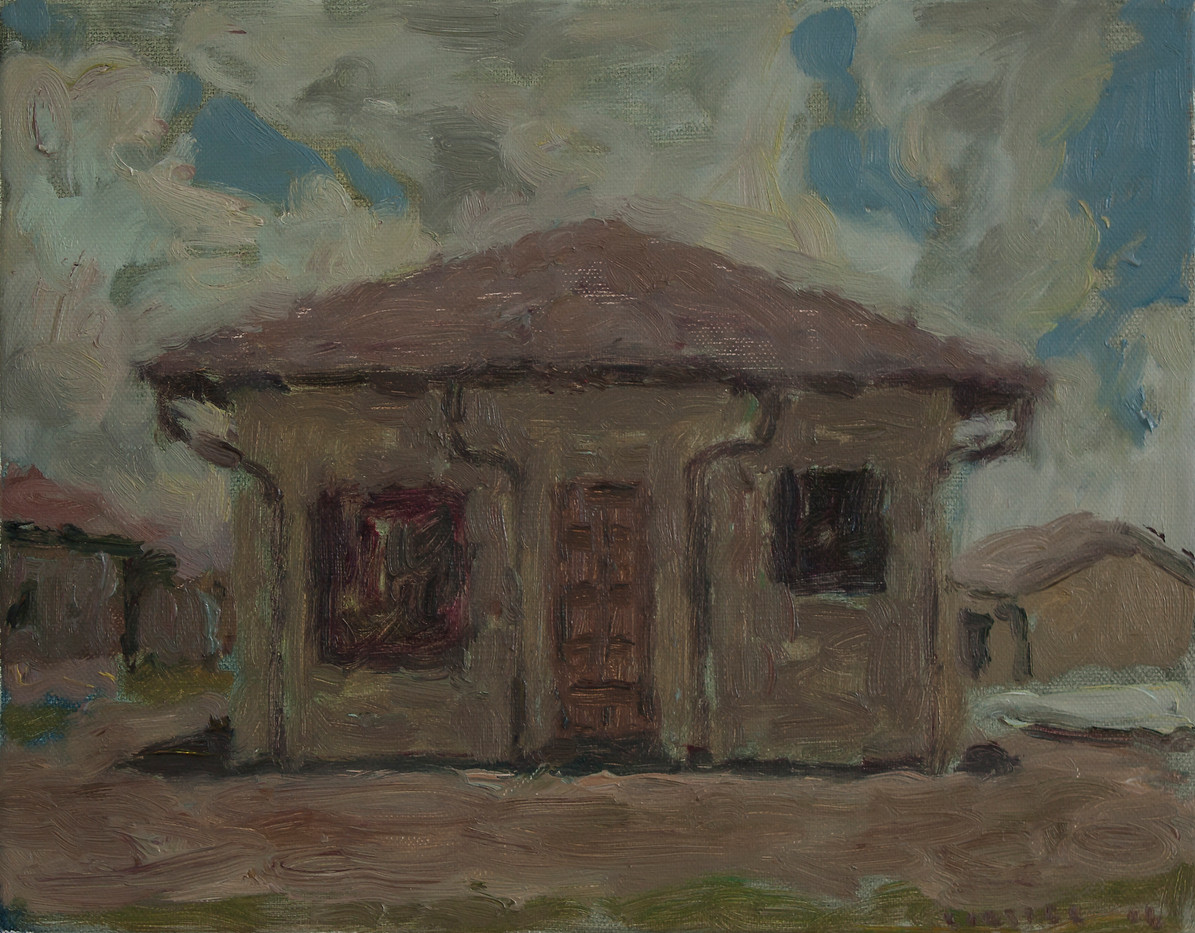 Anton Karstel | Property (Atteridgeville) 1 | 2014 | Oil on Canvas | 28 x 35.5 cm