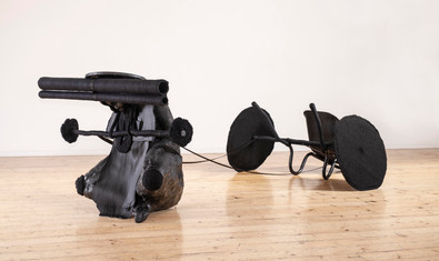 Cow Mash | boleta le bofefo | 2019-2020 | Polyester Resin, Faux Leather, Various Synthetic Fibres, Found Object | 97 x 135 x 315 cm