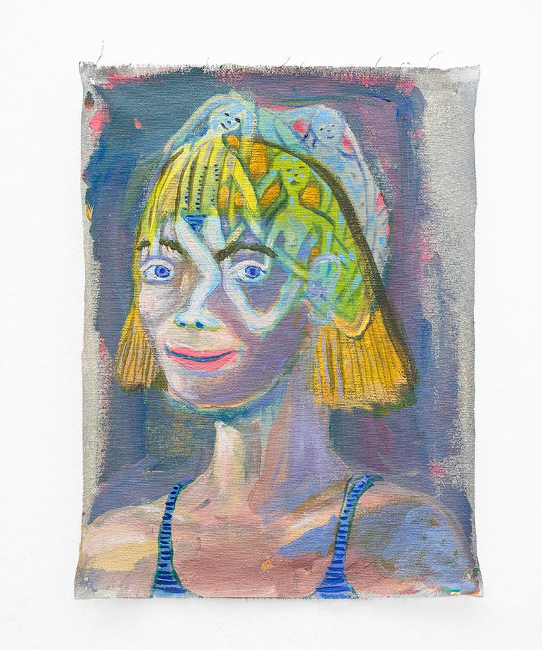 Marlene Steyn   Her true love, Bob   2018   Oil on Canvas   30 x 22.5 cm