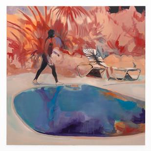 Kate Gottgens | Set Ablaze | 2020 | Oil on Canvas | 150 x 150 cm