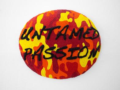 Frances Goodman | Untamed Passion | 2006 | Beads, Silk and Thread | 40 x 47 x 8 cm