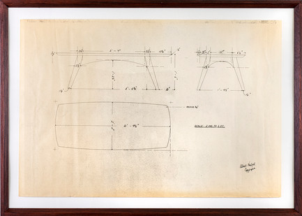 Albert Newall | Table Drawing  | n.d. | Ink on Paper | 37 x 55 cm