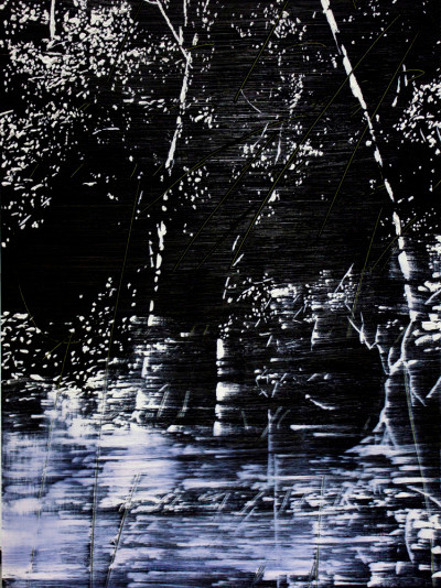 Peter Eastman | Deep Chine XXVIII | 2014 | Oil on Aluminium | 41 x 30 cm