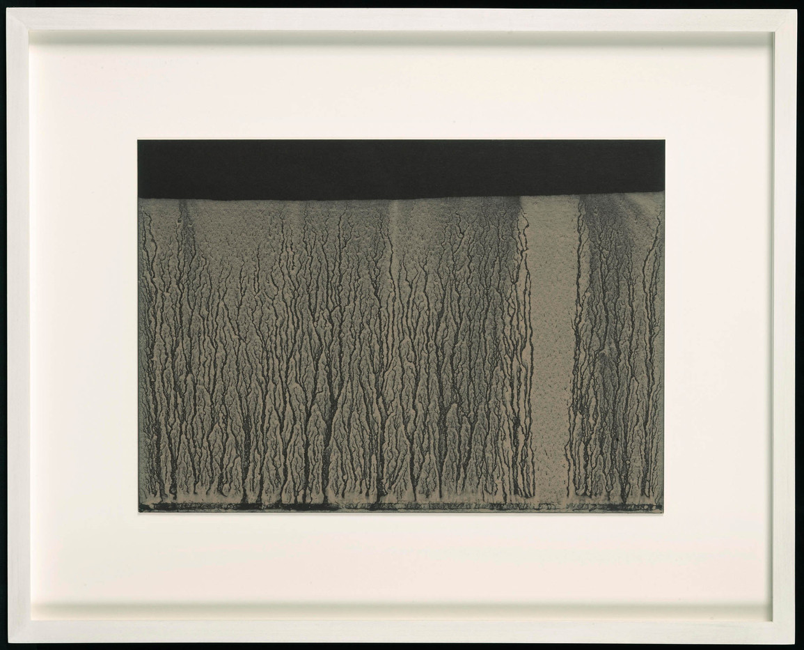 Richard Long | Untitled | 2006 | River Avon Mud on Black Card | 21 x 30 cm
