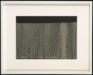 Richard Long | Untitled | 2006 | River Avon Mud on Black Card | 21 x 30 cm