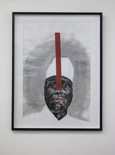 Themba Shibase | Rascal I (Jammeh) | 2017 | Mixed Media on Paper | 88 x 65.5 cm