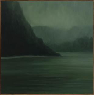 Jake Aikman | Recurring Dream (River Bend) | 2017 | Oil on Linen | 105 x 105 cm