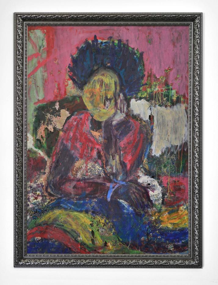 Mostaff Muchawaya | Untitled Memory | 2017 | Acrylic on Canvas | 167 x 123 cm