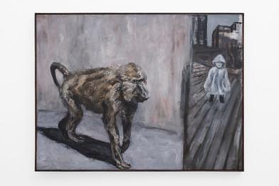 Johann Louw | Bobbejaan / Kind | 2017 | Oil on Panel | 107 x 141 cm