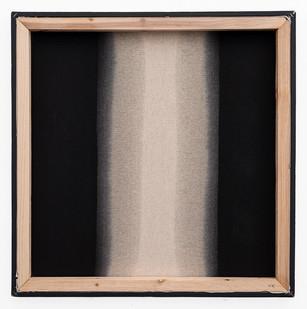 Alexandra Karakashian | Passing Through XI | 2020 | Used Engine Oil, Black Pigment and Sunflower Oil on Canvas | 61 x 61 cm