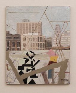 Simon Stone   N2 Incident (Invite)   2016   Oil on Cardboard   30 x 24,5 cm
