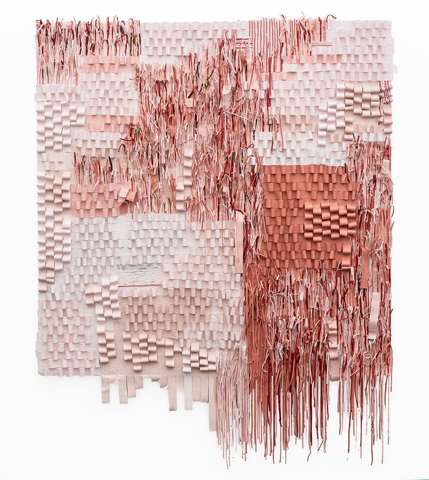 Gabrielle Kruger | Enlaced | 2019 | Acrylic Paint Extending a Board | 170 x 130 cm