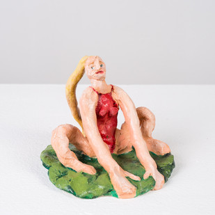 Marlene Steyn   Her Swim Suits You (Grounded)   2017   Oil Paint on Ceramic   9 x 12 x 12 cm
