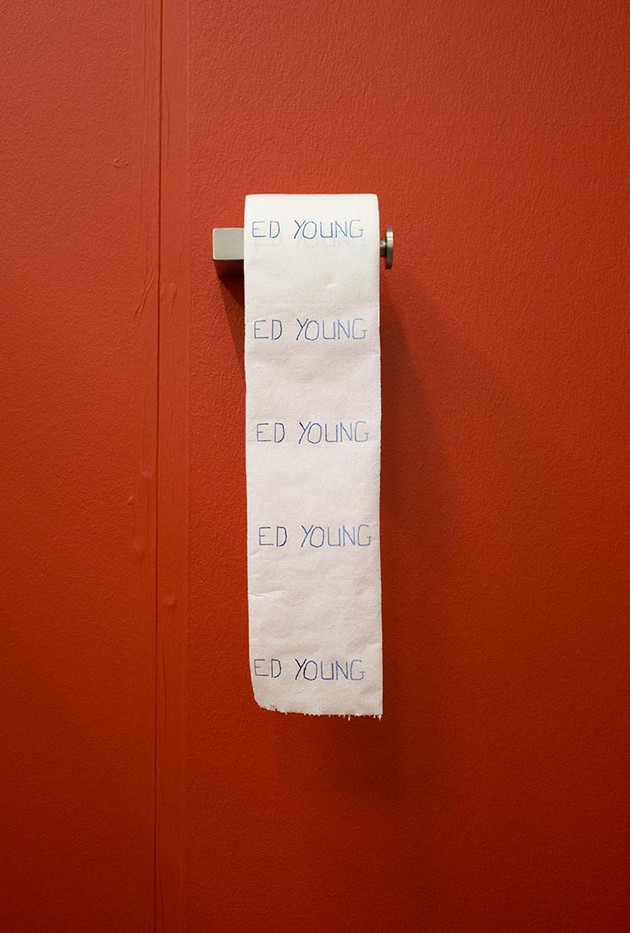 Ed Young   Bogroll   2013   Printed Toilet Paper   10 cm   Edition of 3 + 1 AP