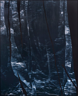 Peter Eastman | Broken Landscape I | 2018 | Oil on Aluminium | 185 x 150 cm