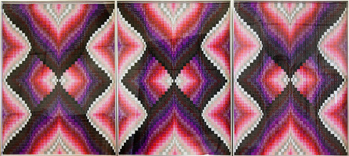 Frances Goodman | Rose Marquise | 2018 | Acrylic Nails on Canvas | 123 x 270 cm