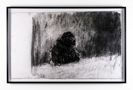 Johann Louw | Bobbejaan Truwaarts | 2018 | Charcoal on Paper | 62.5 x 102.5 cm