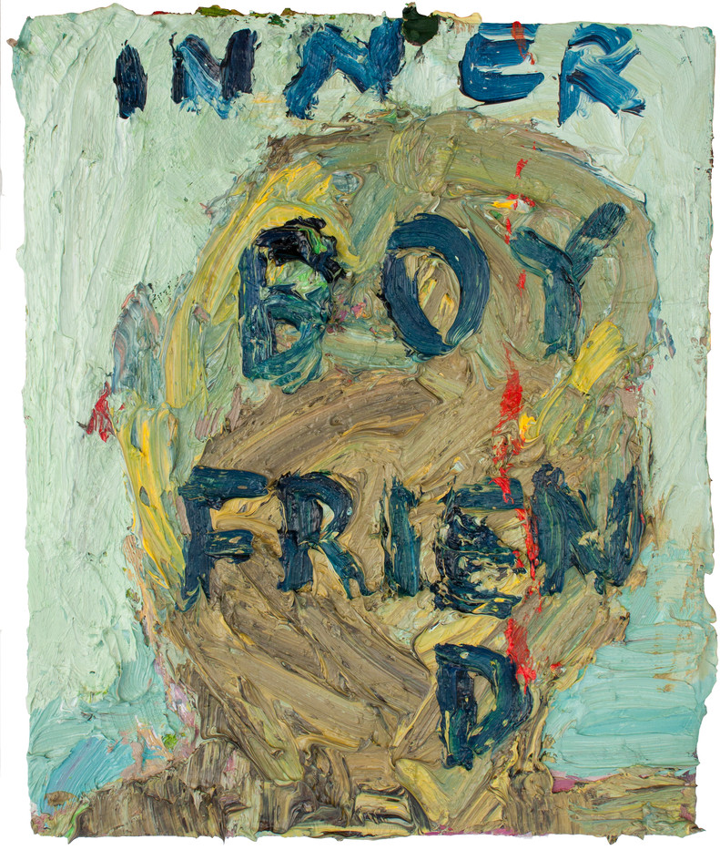 Georgina Gratrix   Inner Boyfriend   2013   Oil on Board   26.5 x 23 cm
